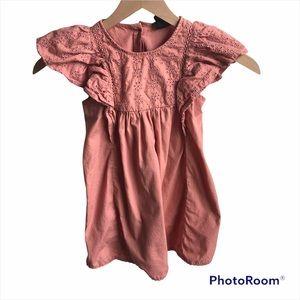 4T ruffle shoulders boho dress